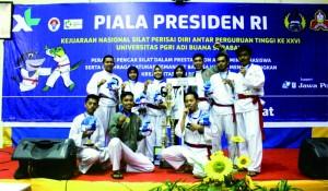 Raih Tiga Medali Emas Kejurnas Silat Perisai Diri Piala Presiden 2017