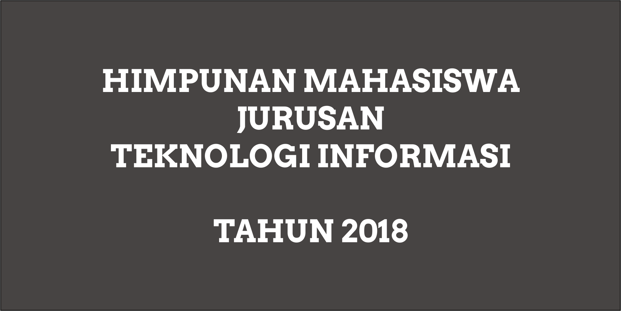 Profil HMJ TI 2018